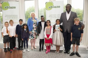 Ablaze Winners with Lord Mayor and Miles Chambers